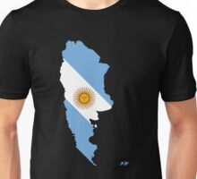 Argentina Flag Map Unisex T-Shirt