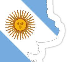 Argentina Flag Map Sticker