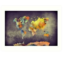 World map 2077 Art Print