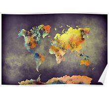 World map 2077 Poster