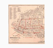 Vintage Map of Charleston South Carolina (1890) Unisex T-Shirt