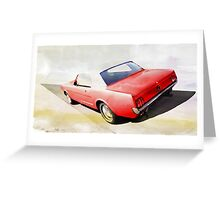 vintage car aquarell Greeting Card