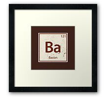 Vintage Bacon Periodic Table Element Framed Print