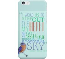Typography / Rilke Quote iPhone Case/Skin