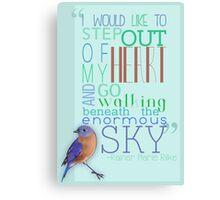 Typography / Rilke Quote Canvas Print
