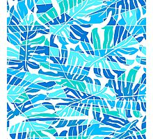 Tropical Monstera abstract pattern Photographic Print