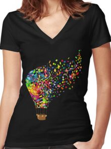 Air balloon. Women's Fitted V-Neck T-Shirt