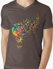 Air balloon. Mens V-Neck T-Shirt