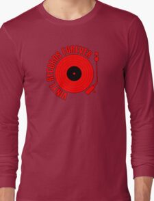 Records Forever (red) Long Sleeve T-Shirt