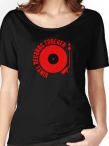 Records Forever (red) Women's Relaxed Fit T-Shirt