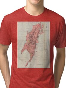 Vintage Map of Bombay India (1895) Tri-blend T-Shirt