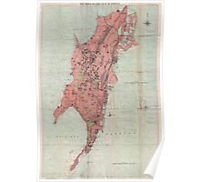 Vintage Map of Bombay India (1895) Poster