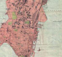 Vintage Map of Bombay India (1895) Sticker