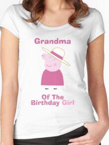 Grandma (HBD) girl Women's Fitted Scoop T-Shirt
