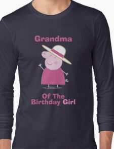 Grandma (HBD) girl Long Sleeve T-Shirt