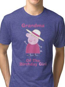 Grandma (HBD) girl Tri-blend T-Shirt
