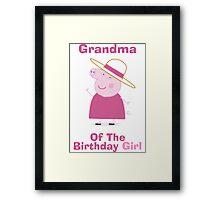 Grandma (HBD) girl Framed Print