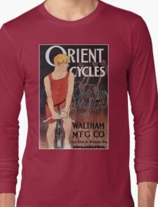 Vintage Orient Bicycle Advertising 1895 - Edward Penfield Long Sleeve T-Shirt