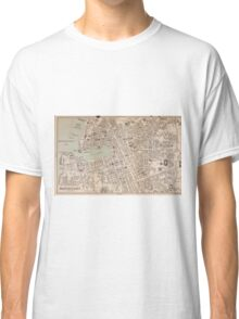 Vintage Map of Marseille France (1896) Classic T-Shirt