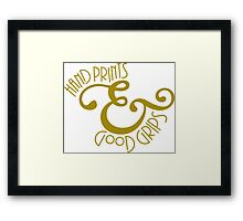 Hand Prints & Good Grips Framed Print