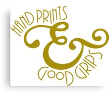 Hand Prints & Good Grips Canvas Print