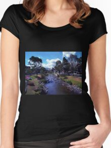 Along The Banks Of The Tomebamba Women's Fitted Scoop T-Shirt