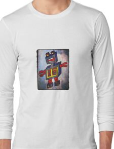 TomoBot Robot In Space Long Sleeve T-Shirt