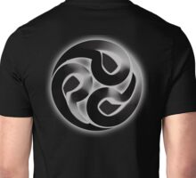 Tomoe, Japanese, Shinto symbol, 3D Blend, ON BLACK Unisex T-Shirt