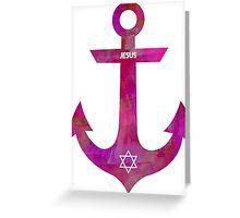 Christian Anchor Greeting Card