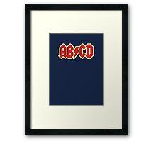 Vintage ABCD Rock & Roll Framed Print