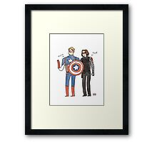 Captain America and The Winter Smoulder  Framed Print