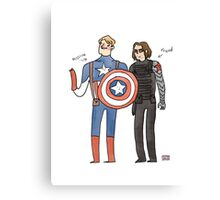 Captain America and The Winter Smoulder  Canvas Print