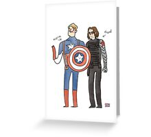Captain America and The Winter Smoulder  Greeting Card