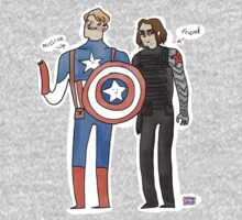 Captain America and The Winter Smoulder  by captainshroom