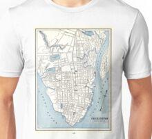 Vintage Map of Charleston South Carolina (1898) Unisex T-Shirt