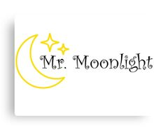 Mr Moonlight The Beatles Song Lyrics 60s Rock Music Lennon Canvas Print