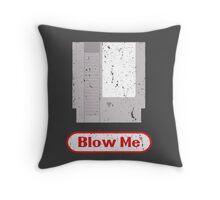 Blow Me - Vintage Nintendo Cartridge Throw Pillow