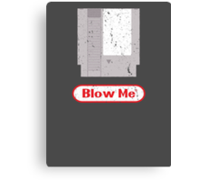 Blow Me - Vintage Nintendo Cartridge Canvas Print
