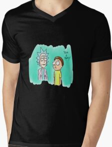 rick and morty Painting Mens V-Neck T-Shirt