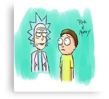 rick and morty Painting Canvas Print