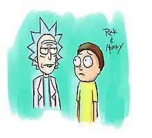rick and morty Painting Photographic Print