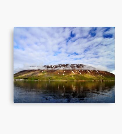 Islandic Cliffs and Sky Canvas Print