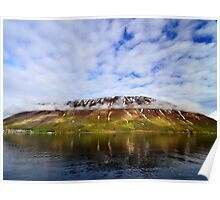 Islandic Cliffs and Sky Poster
