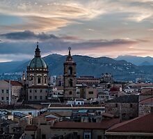 Evening falls over Palermo by MarcW