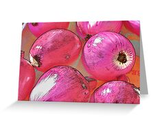 Rainbow Confetti Red Onions Greeting Card