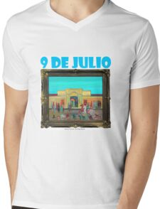 9 de Julio por Diego Manuel Mens V-Neck T-Shirt