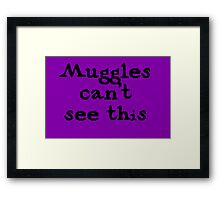 Muggles cant see this Framed Print