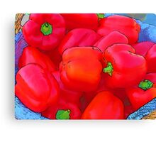 RainbowConfetti Farmers Market: Red Peppers Canvas Print