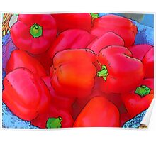 RainbowConfetti Farmers Market: Red Peppers Poster