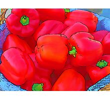RainbowConfetti Farmers Market: Red Peppers Photographic Print